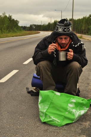Lunch on the road (Finland)