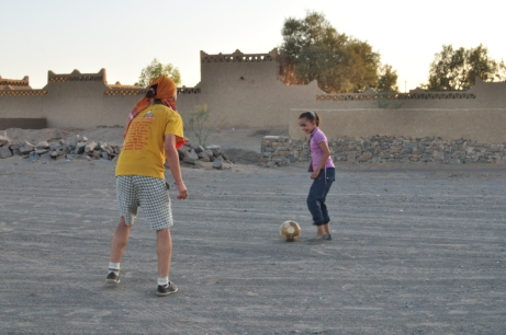 Football in the dessert (Morocco)