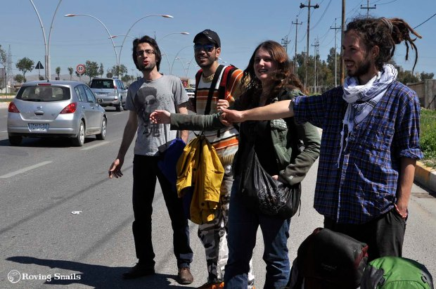 Hitchhiking in Iraq team