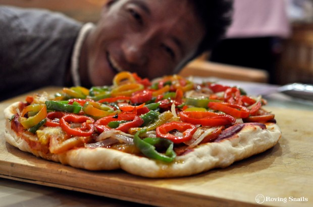 Nuo and the fist ovenless pizza
