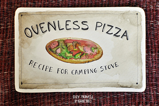 DIY Pizza for camping stove