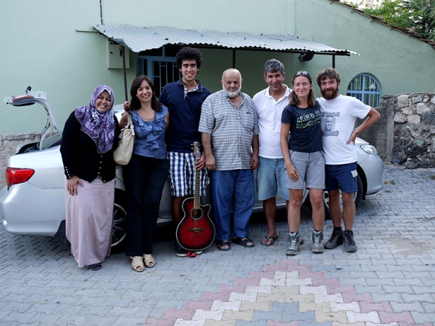 Ania and Jon with two Turkish families