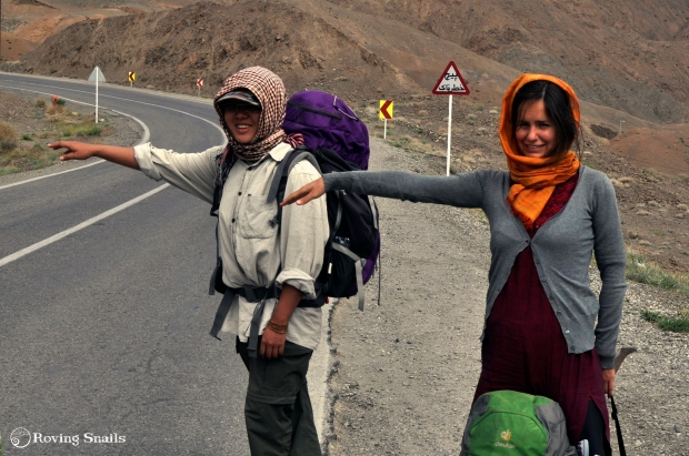 Iran Hitchhiking hijab cover